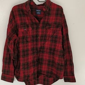 Faded Glory Red Plaid Shirt